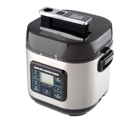 Montel Williams Living Well 6 Quart Pressure Cooker W Accessories Qvc Com