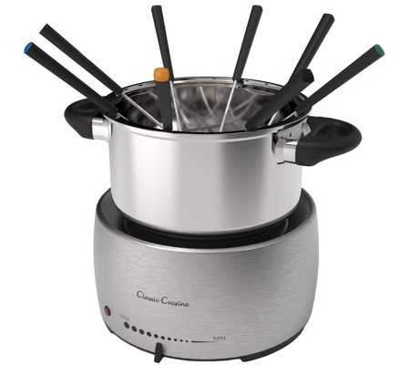 Classic Cuisine Stainless Steel Fondue Pot Set
