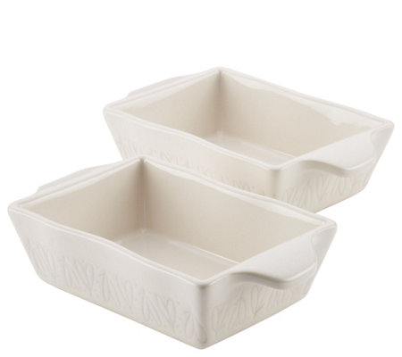 Ayesha Curry 2-Piece Stoneware Au Gratin Set - French Vanilla