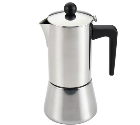 BonJour 14-oz Coffee Stainless Steel Stovetop Espresso Maker