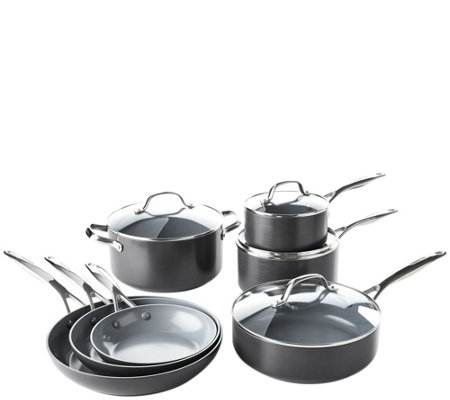 Greenpan Valencia Pro 11 Piece Ceramic Nonstickcookware Set