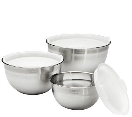 Cuisinart Set of 3 Mixing Bowls with Lids