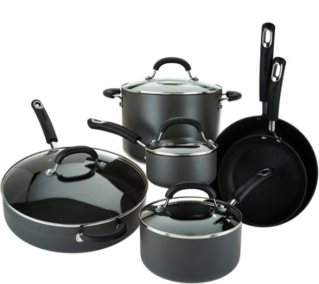 Circulon 10-Piece Hard Anodized Dishwasher Safe Cookware Set