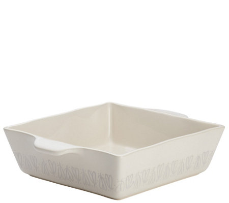 "Ayesha Curry 8"" x 8"" Stoneware Square Baker - French Vanilla"