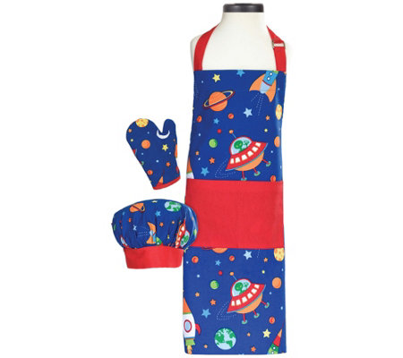 Handstand Kitchen Outerspace Kids 3 Piece Apronset