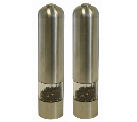Battery Powered Stainless Steel Salt and PepperMills