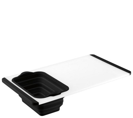 Cuisinart Poly Cutting Board with Built-In Colander