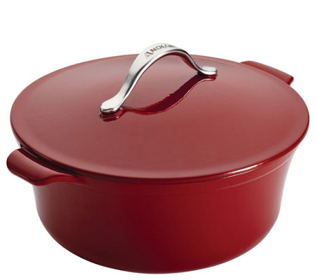 Anolon Vesta Cast-Iron Cookware 7-qt Round Covered Dutch Oven