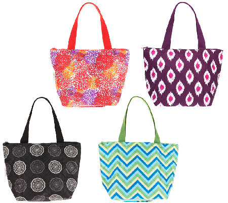 Sachi Set Of 4 Insulated Lunch Totes With Gift Bo