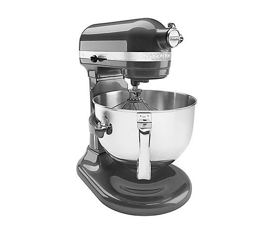 Kitchenaid 6 Quart Pro Stand Mixer Pearl Metal Qvc Com