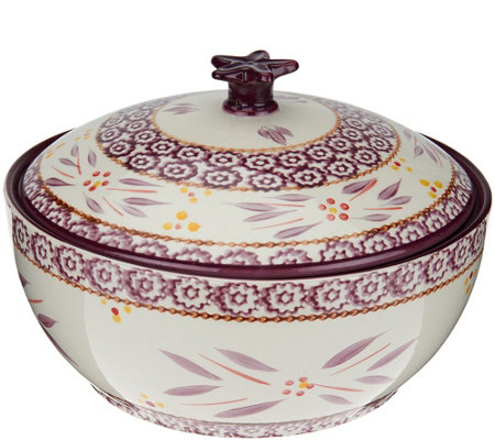Temp-tations Old World 2.5 qt. Round Baker w/Figural Domed Lid