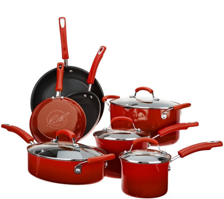 Rachael Ray 11-pc Gradient Porcelain Enamel Cookware Set