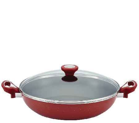 "Farberware New Traditions Speckled 12-1/2"" Covered Skillet"