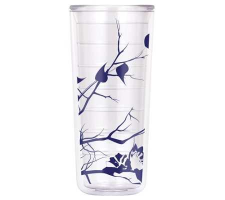 ThermoServ Set of (4) 18-oz Tritan Tumblers - Dogwood Floral