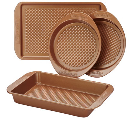 Farberware 4-Piece Colorvive Nonstick BakewareSet