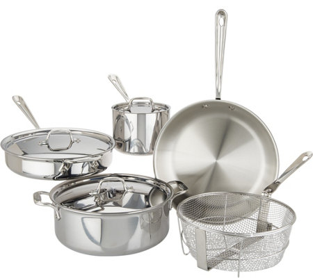 All-Clad D3 Tri-Ply Stainless Steel 8-Piece Cookware Set