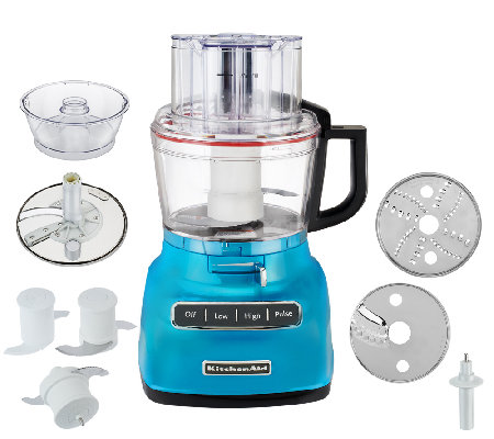 KitchenAid 9Cup Exact Slice Food Processor W/ French Fry U0026 Dough Attach.