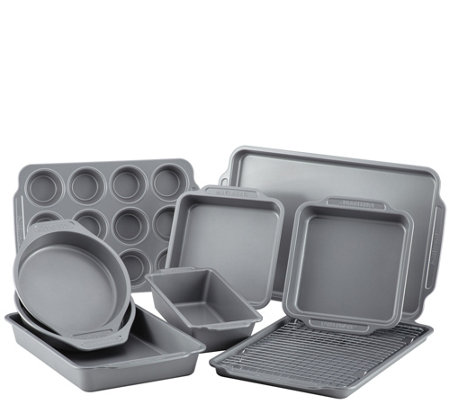 Farberware 10-Piece Nonstick Bakeware Set withCooling Rack