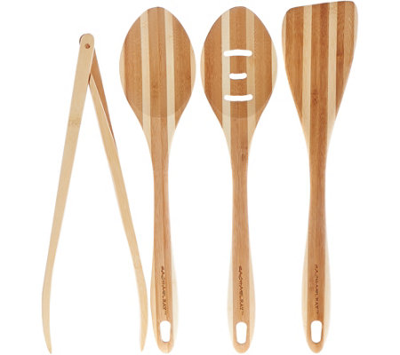 Rachael Ray Set of 4 Bamboo Cooking Tools