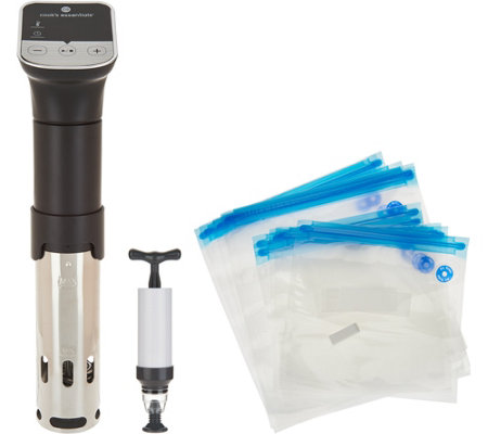 Cook's Essentials Sous Vide Precision Cooker w/ Sealer & Bags