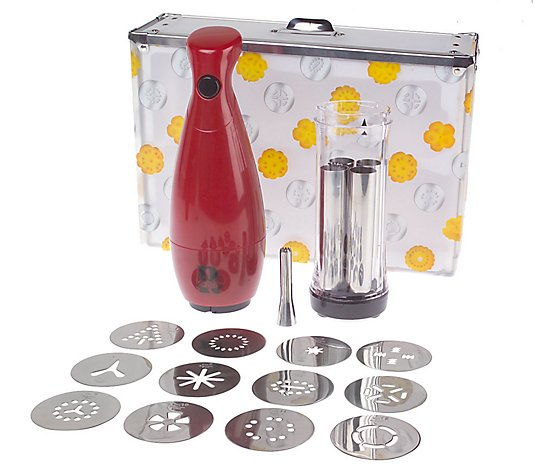 Cordless Electric Cookie Press w/Storage by Rocco ...
