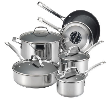 Circulon Genesis Stainless Steel 10 Pc Cookwareset
