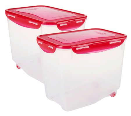 Lock Lock Set of 2 Bulk Storage Containers with Containers Page