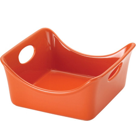 Rachael Ray Stoneware Two-Quart Square Baker, Orange