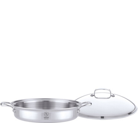 Hammer Stahl Stainless Steel Clad Covered Casserole Dish