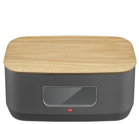 Hailo Elegant Bread Bin with Viewing Window & Cutting Board
