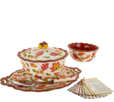 Temp-tations Old World 6-pc Serving Platter & Pedestal Bowl Set