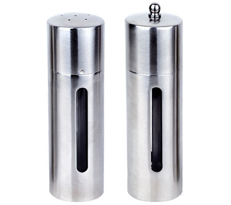 BergHOFF 2-Piece Round Salt and Pepper Mill Set