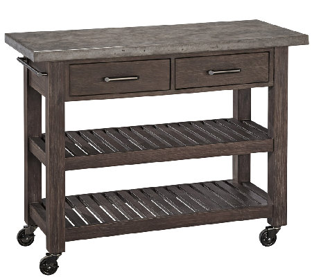Home Styles Concrete Chic Indoor/Outdoor Kitchen Cart