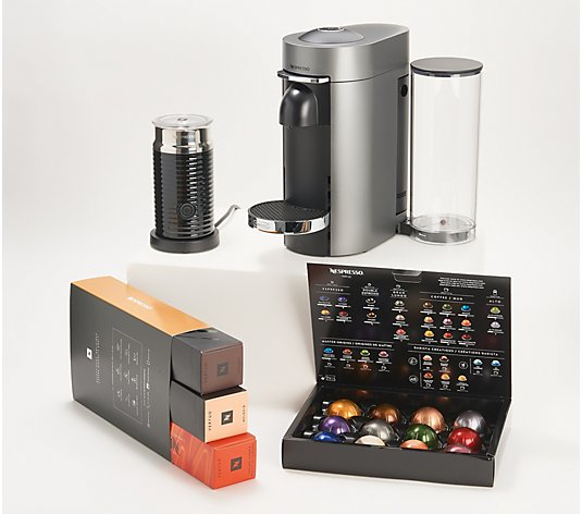 Nespresso VertuoPlus Deluxe Coffee & Espresso Maker w/ Milk Frother