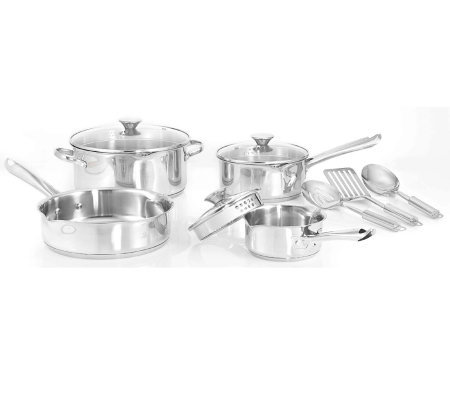 Wearever Cook & Strain Stainless Steel 10-PieceCookware Set