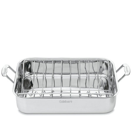 "Cuisinart Chef's Classic 16"" Roasting Pan withRack"