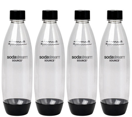 SodaStream 1-liter Source Plastic Carbonating Bottles - 4-Pk