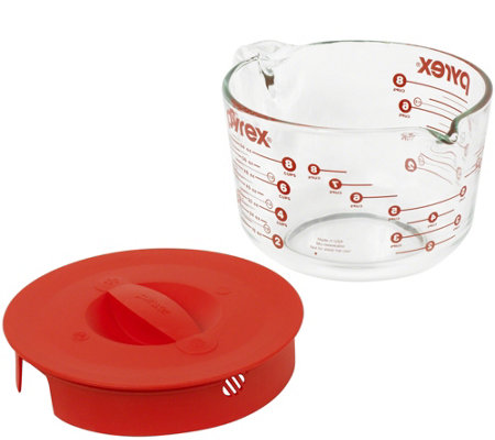 Pyrex Prepware 8-Cup Measuring Mixing & Storage Cup w/ Cover