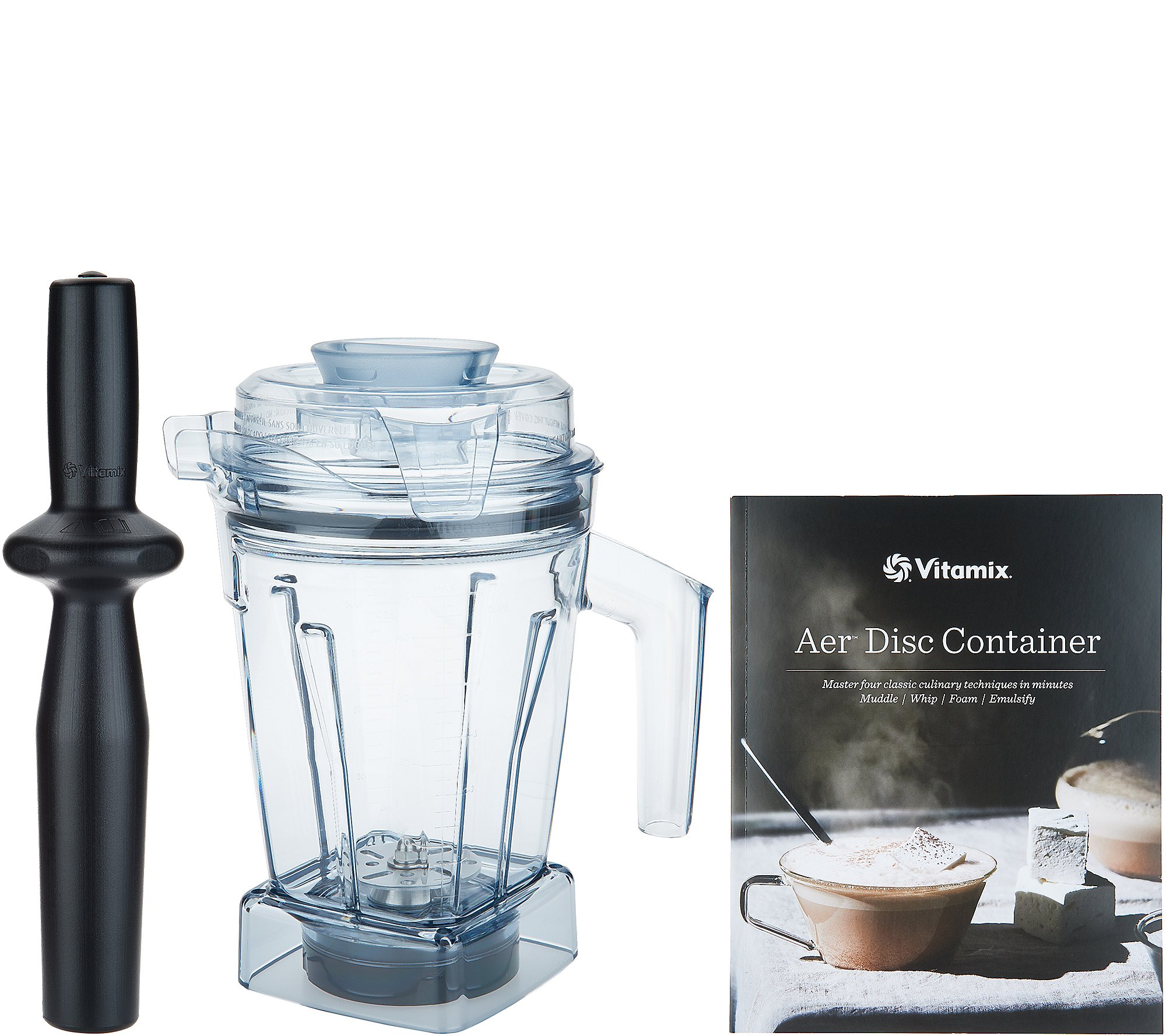Vitamix Aer Disc 6 In 1 48 Oz Specialty Container With Recipe Book Qvc Com
