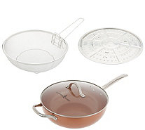 "Copper Chef 12"" Super Skillet with Glass Lid and Accessories - K47130"