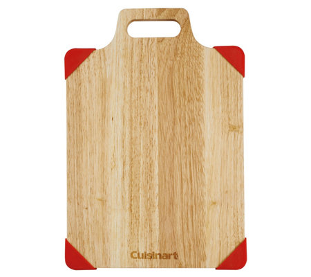"Cuisinart 15"" Rubberwood Cutting Board with Removable Corners"