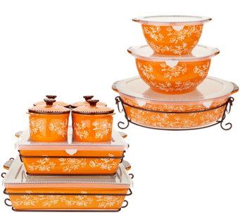 Temp-tations Floral Lace 16-Piece Bakeware Set - K46032  sc 1 st  QVC.com & Temp-tations u2014 Kitchen u0026 Food u2014 QVC.com