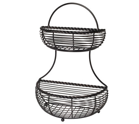 Gourmet Basics by Mikasa Rope Two-Tier Countertop Basket