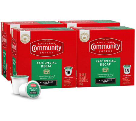 Community Coffee 72-ct Cafe Special Decaf Single-Serve Cups