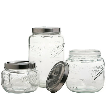Mason Jar 3-Piece Pop-Up Canister Set