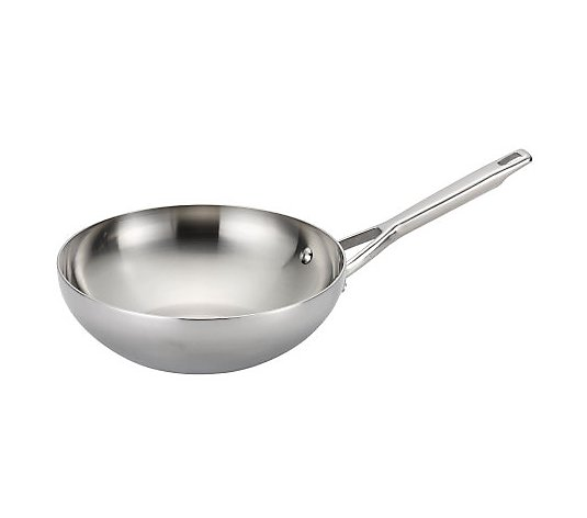 "Anolon 10.75"" Tri-Ply Clad Stainless Steel StirFry Pan"