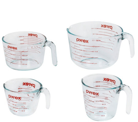 Pyrex Classic Kitchen 4-Piece Mixing and Measuring Cup Set