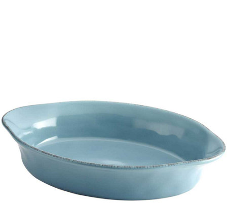 Rachael Ray Cucina Stoneware 2-qt Oval Baker