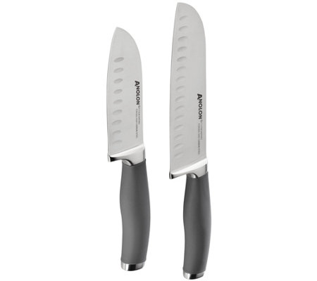 Anolon SureGrip Japanese Stainless Steel Santoku Knife Set
