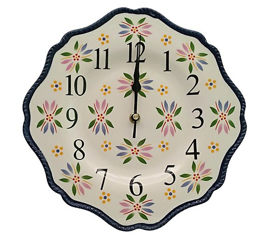 "Temp-tations Old World 10.5"" Ceramic Clock"